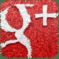 Logo von Google+ in Teppischoptik