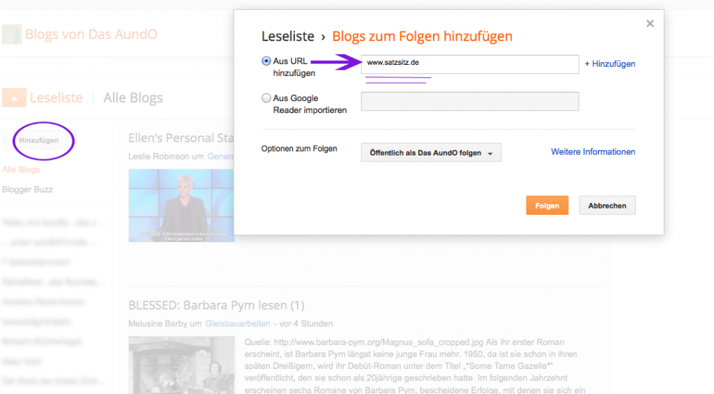 Anleitung für das Blogger-Backend