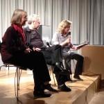 Die wunderbare Autorin Anne Bax auf der Lesebühne.