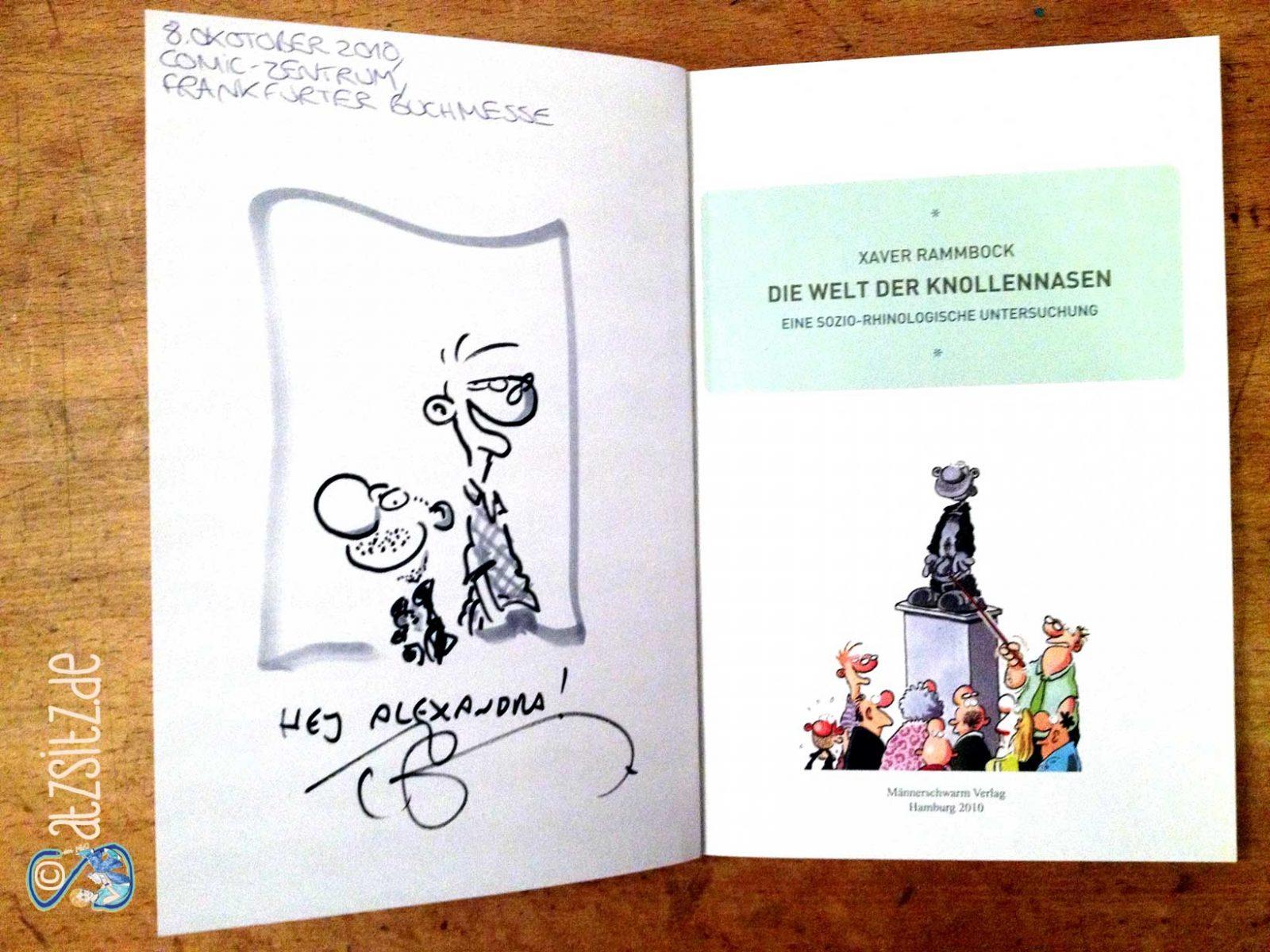 Signierte Ausgabe von Xaver Rammbock: Ralf König hat Konrad und Paul auf die erste Seite gezeichnet!