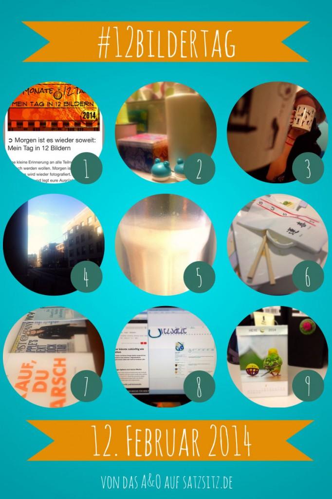 Bildercollage für den 12#bildertag mit 9 Bildern in einzelnen runden Rahmen, die den Tagesablauf von das A&O zeigen