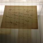 """Schriftstück Nietsches im Schillermuseum Marbach: """"Gruß durch Weltverachtung"""""""