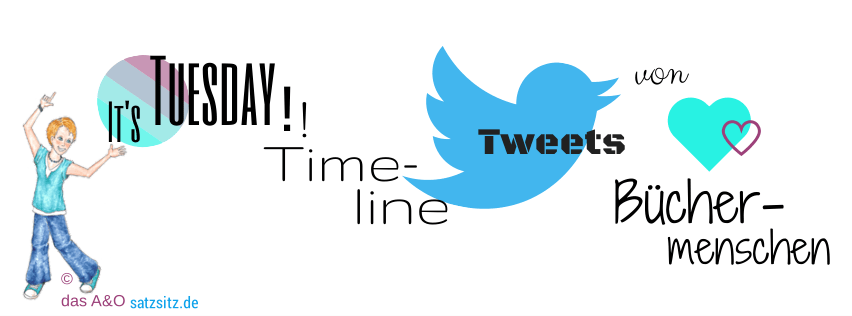 Graphische Wortkette mit Illustration von das A&O, dem Twittervogel und zwei grün-magenta Herzchen