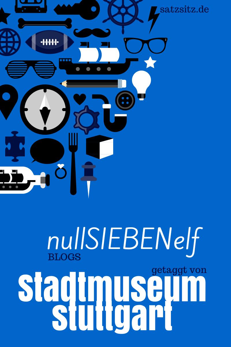 blaue illustration mit zahlreichen alltagspiktogrammen: das stadtmuseum stuttgart in 0711