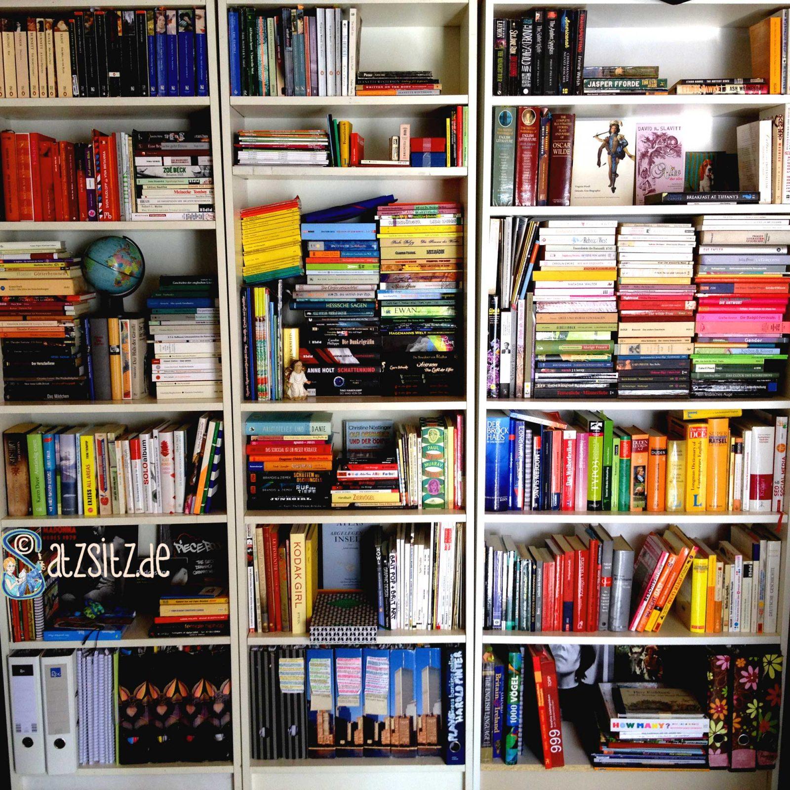 Drei Billy-Regale als komplette Bibliothek von das A&O