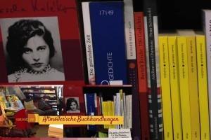 Bücherregal im close up: Lyrik in der Altmoeller'schen Buchhandlungen