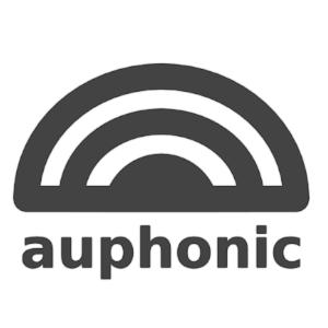 Logo von Auphonic. Klangwellen als Bogen