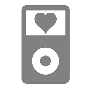 Logo von Podlove: iPod mit Herz auf dem Display