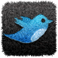 Twitter-Logo in Teppich-Optik