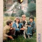 Bild der Fünf Freunde, 70er Tv-Serie, das an meiner Wand an einem Faden hängt