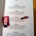 """90er Lesezeichen im Nöstlinger-Buch """"Gretchen Sackmeier"""""""