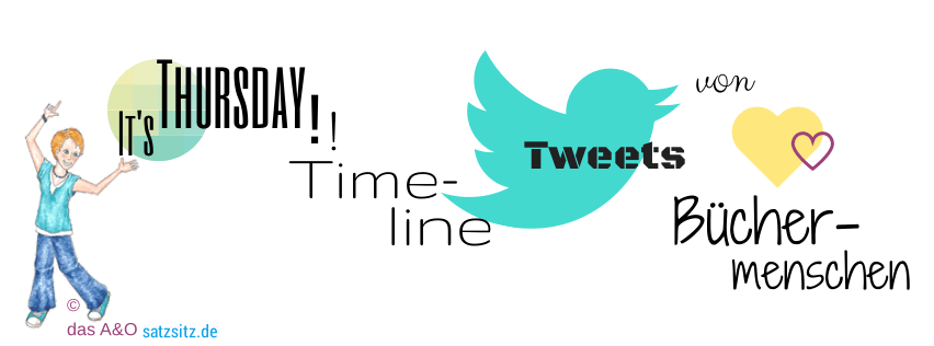 Graphische Wortkette mit Illustration von das A&O, dem Twittervogel und zwei gelb-magenta Herzchen