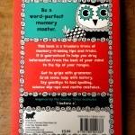 """Rückseite eines englischen Buchs über Eselsbrücken: rot mit Eule. """"Be a word-perfect memory master"""""""