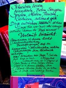Handgeschriebene Philosophie der Altmoeller'schen Buchhandlung, ähnlich der Satzsitz-Philosophie