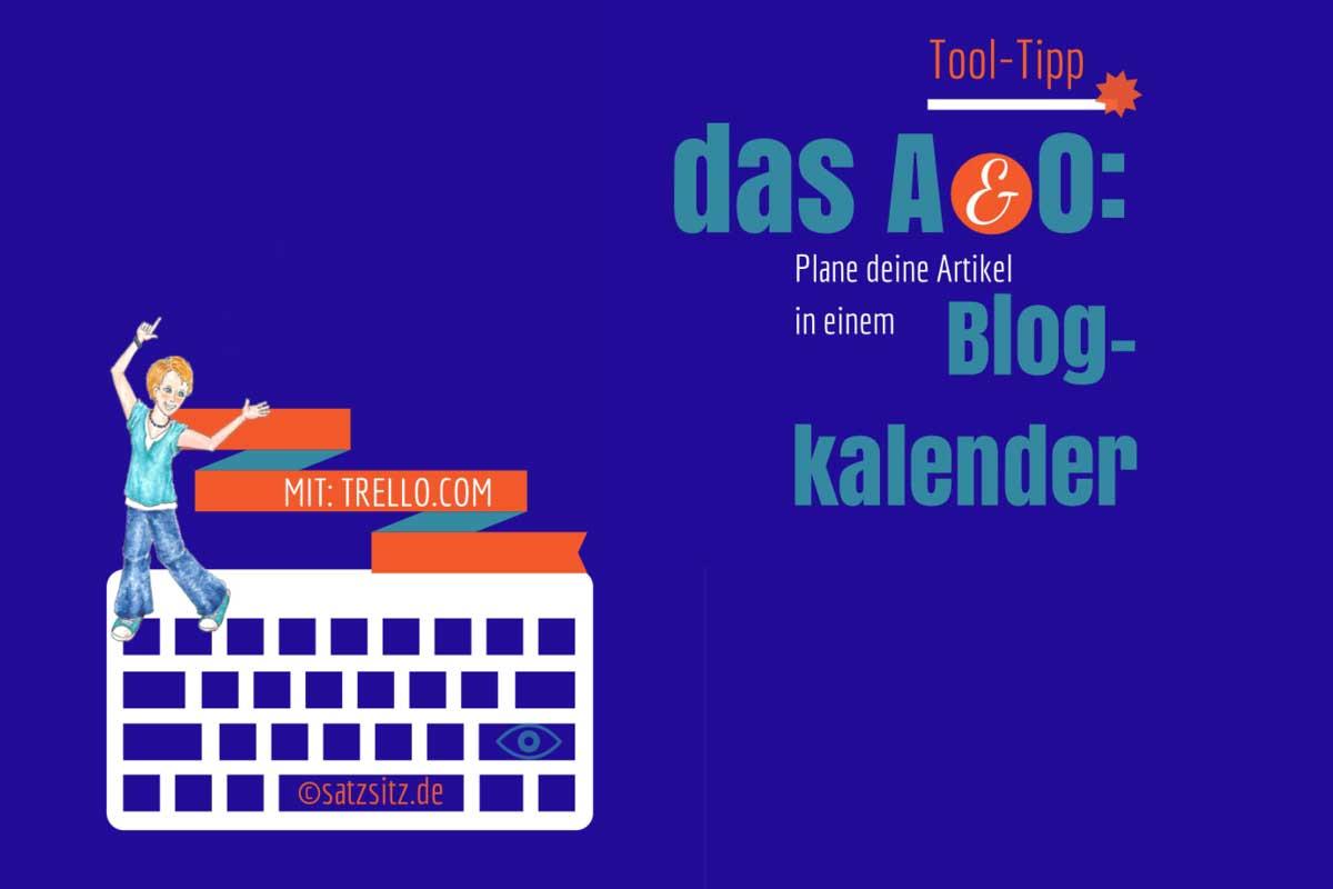 Blaue Illustration: das A&O tanzt auf einer Tastatur und zeigtauf die Überschrift