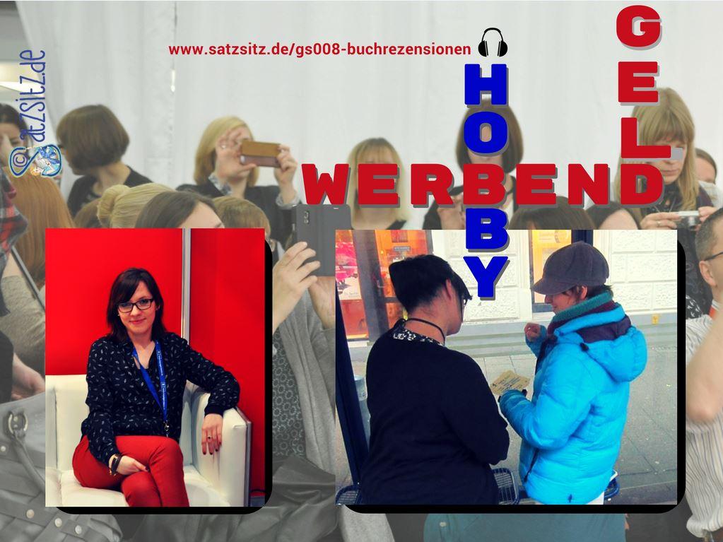 Sophie Weigand auf einem roten Sofa, Devin Sumarno zum Interview an einer Bushaltestelle.