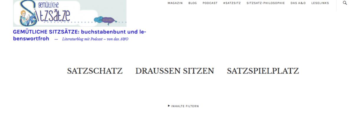 HeaderBereich eines vergangenen Blog Themes: Zuki.