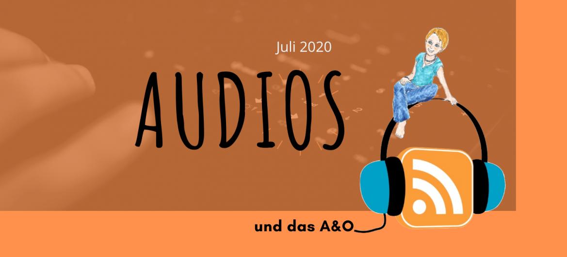 Illlustration von das A&O: sitzt auf einem Kopfhörer mit RSS Icon