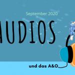 Illustration von das A&O: sitzt auf einem Kopfhörer mit RSS Icon